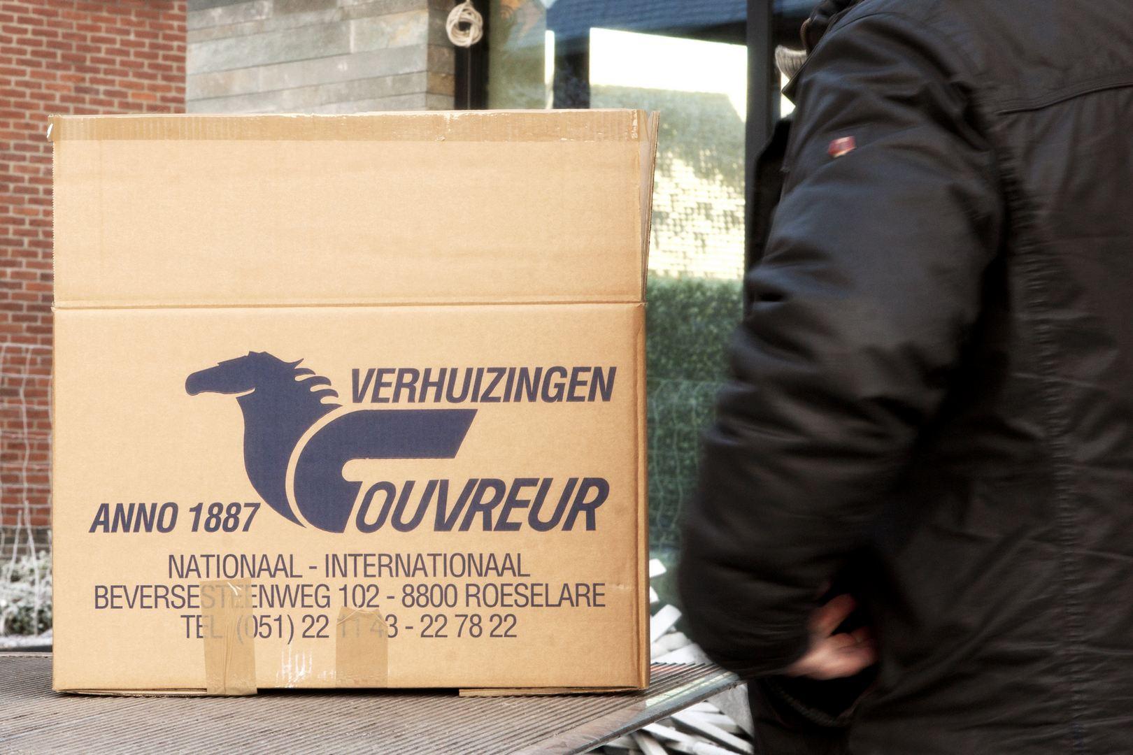 Verhuisfirma Couvreur stelt verhuisdozen ter beschikking